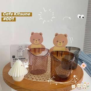 【两个装】小熊抱抱浴室置物架免打孔