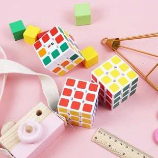 儿童益智玩具三阶白底儿童比赛专用魔方