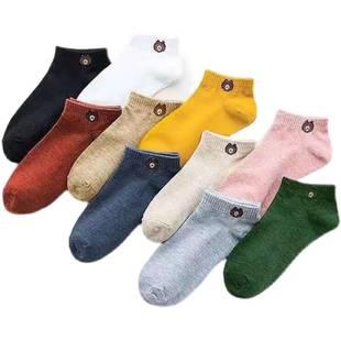 10双 小熊纯棉透气袜子