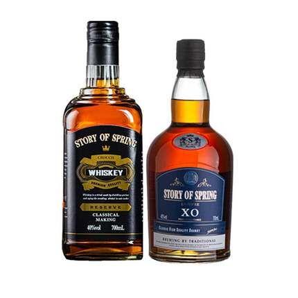 法国XO白兰地洋酒组合套装苏格兰威士忌可乐桶酸正品官方进口礼盒