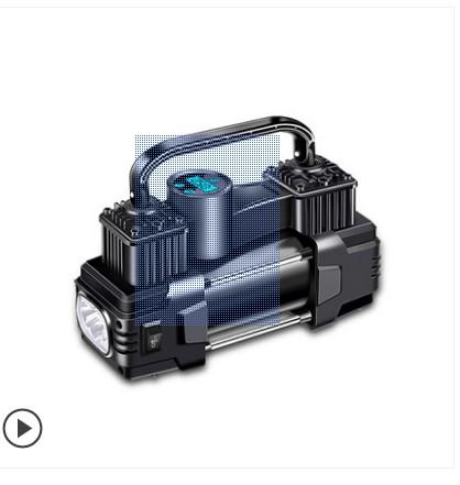 车载充气泵小轿车便携式汽车用电动轮胎大功率12v加气泵打气泵筒