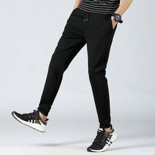 男生弹力休闲长裤冰丝薄款运动裤男士直筒裤