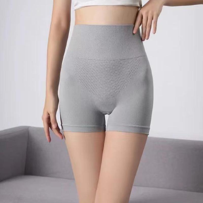 高腰平角收腹裤产后束腹提臀内裤女塑身裤束腰大码安全裤女防走光