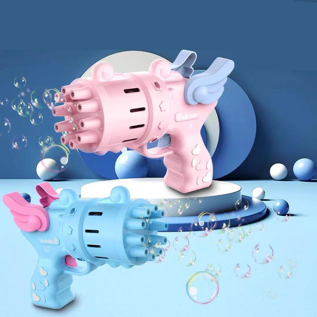 加特林泡泡机十孔泡泡枪新款电动儿童玩具抖音爆款