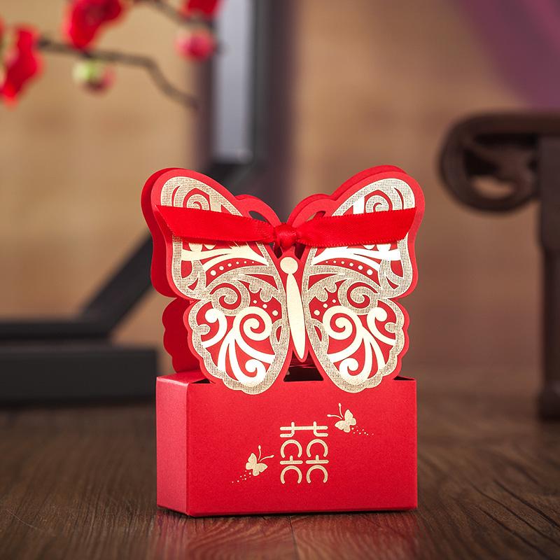 喜糖盒结婚喜糖盒子婚庆婚礼用品 回礼糖果袋中国风创意个性2021