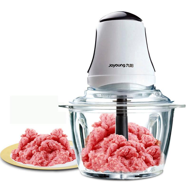 九阳S2-A808绞肉机家用不锈钢绞馅碎肉机打肉馅辣椒辅食料理机