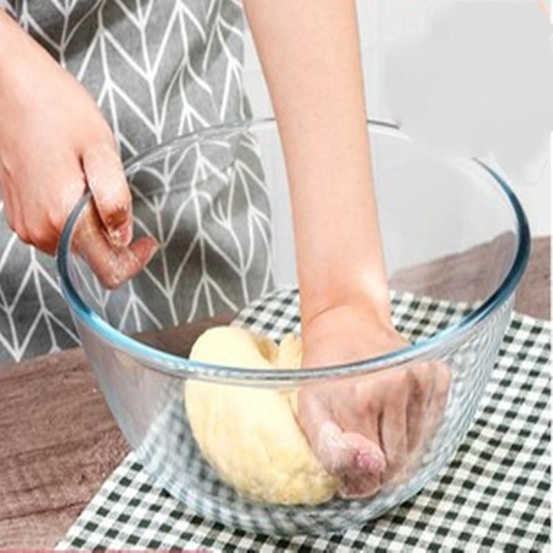 透明玻璃碗家用沙拉碗大号微波炉烤箱烘焙专用耐热高温打蛋和面盆