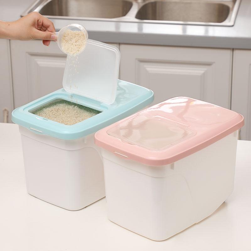 厨房家用米桶米盒大米收纳米缸储米箱面桶防虫杂粮储物箱10-40斤
