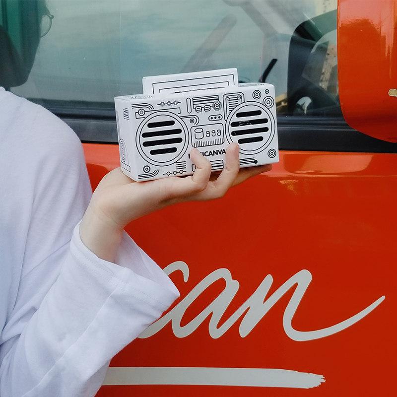 Musicanvas音乐画布mini电脑台式手机无线蓝牙音箱女生卡通礼物3D环绕家用高音质便携式迷你小音响小型低音炮