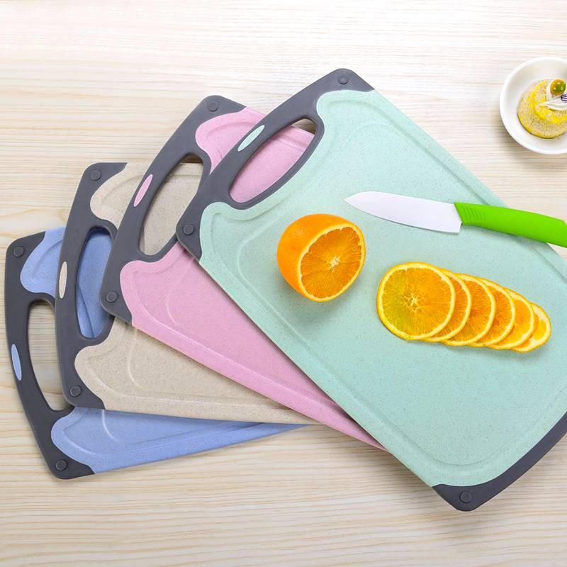 小麦秸秆菜板切菜板家用实木防霉砧板水果塑料小宿舍案板占板