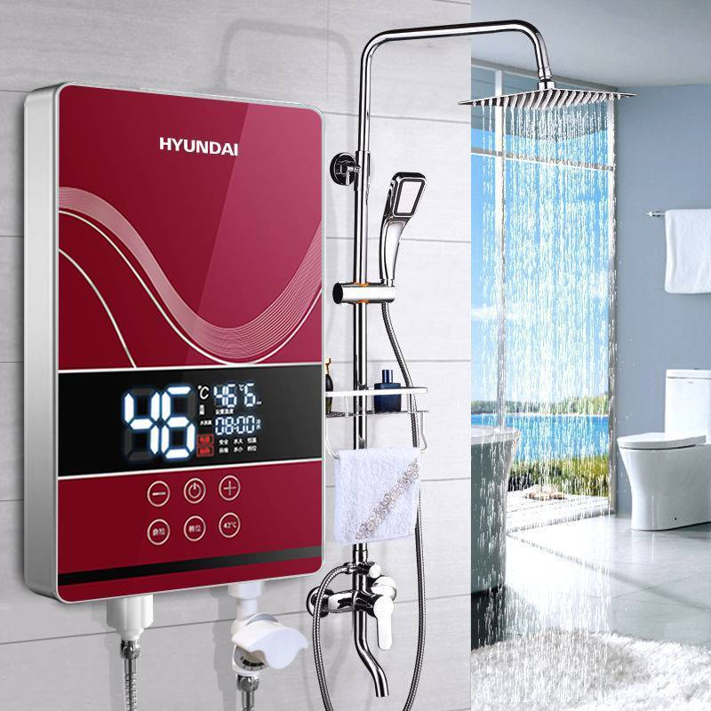 现代即热式电热水器家用速热洗澡免储水电热水器变频恒温水电隔离