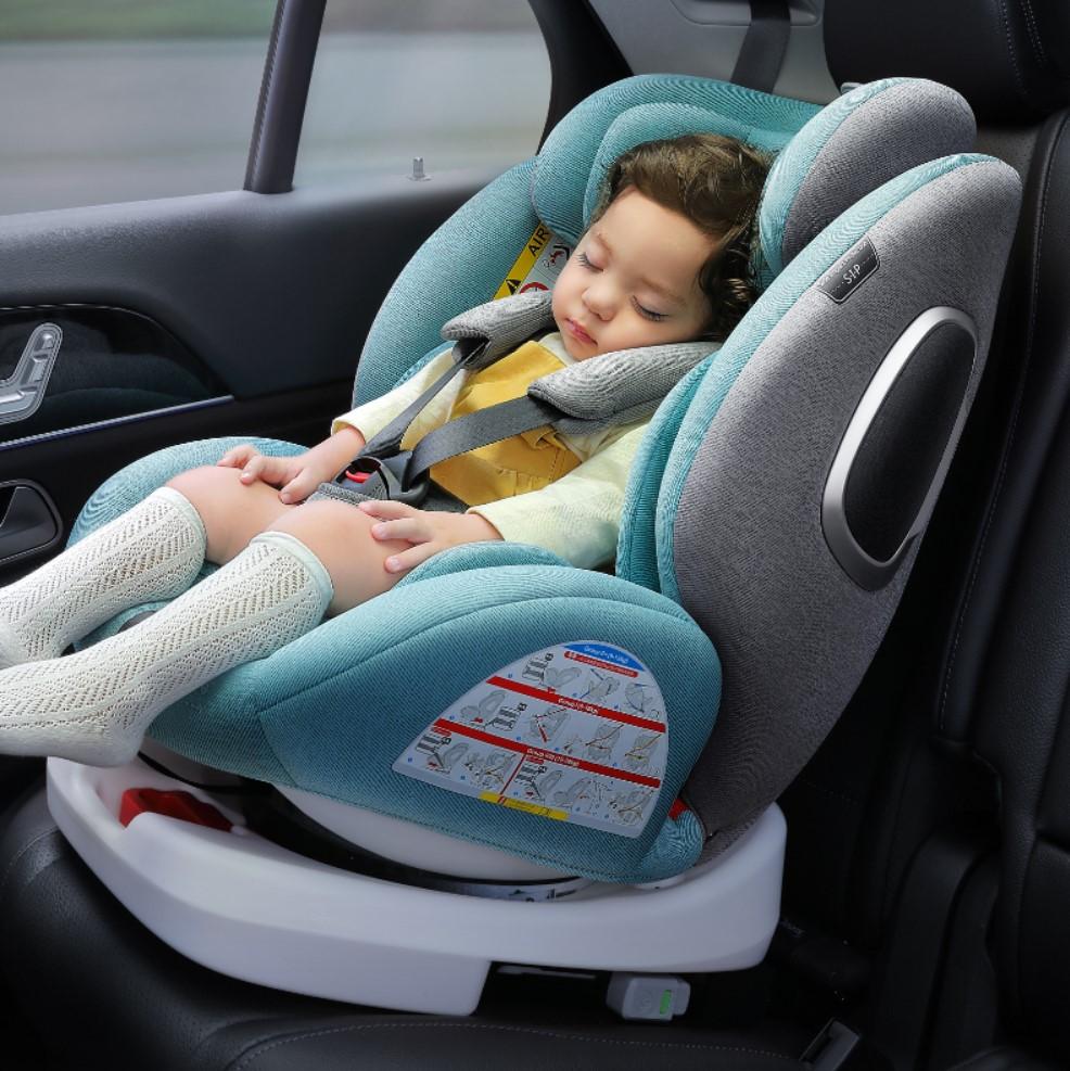 儿童座椅汽车用0-12岁宝宝婴儿3-4挡车载便携式简易旋转坐椅