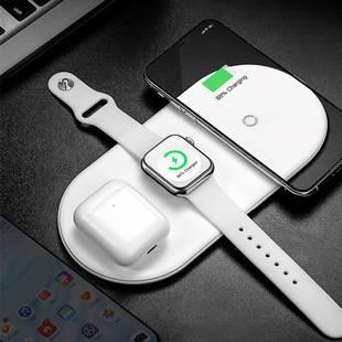 无线充电器苹果专用三合一iPhone11 Pro Max手机iwatch手表airpods耳机多功能快充万能通用底座8p