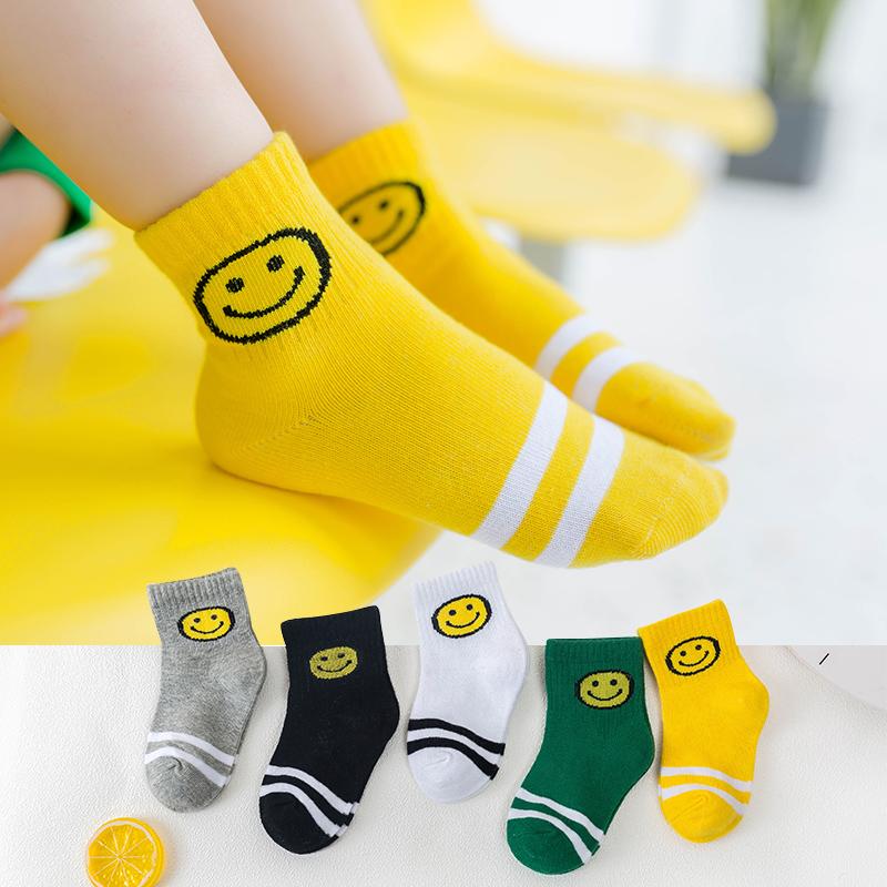 儿童袜子秋冬季 纯棉地板袜婴儿袜子女童袜子纯棉中筒袜宝宝袜子