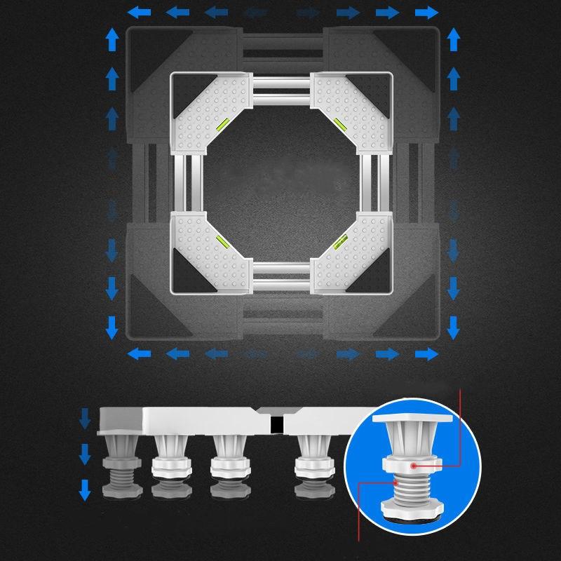 洗衣机底座通用托架移动万向轮置物架滚筒冰箱海尔全自动加高支架