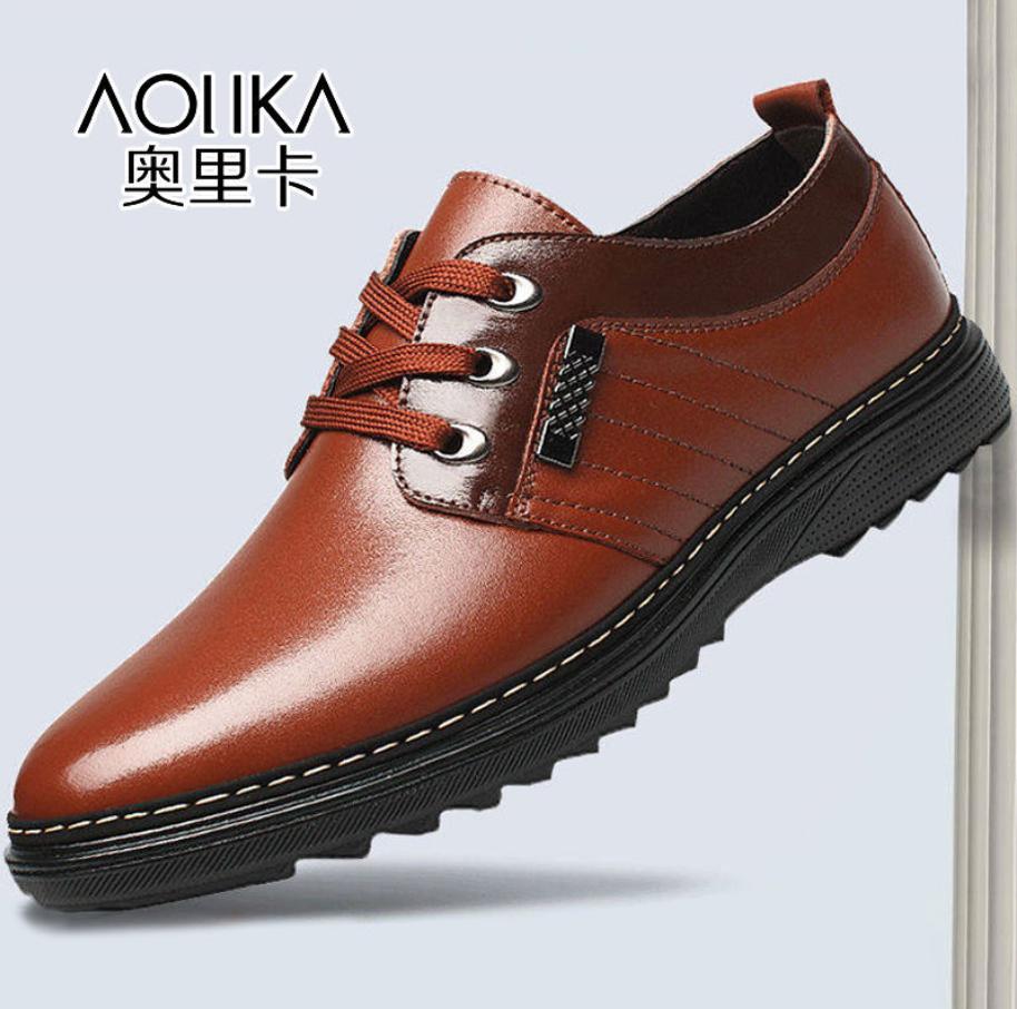 【今日特价】皮鞋男士休闲秋商务透气皮鞋防水防滑上班工作鞋子男