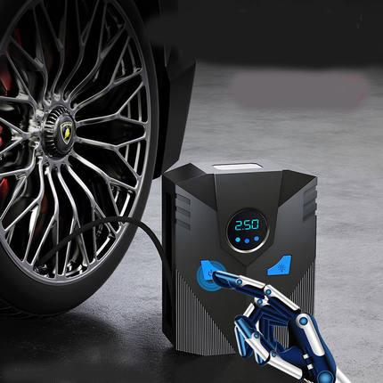 车载充气泵小轿车便携式汽车电动轮胎多功能12v加气泵车用打气筒