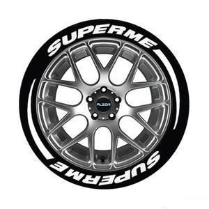 汽车轮胎字母贴改装反光装饰贴