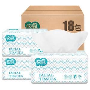 欣蜜儿大号抽纸18大包整箱纸巾卫生纸家用餐巾纸实惠装婴儿面巾纸优惠