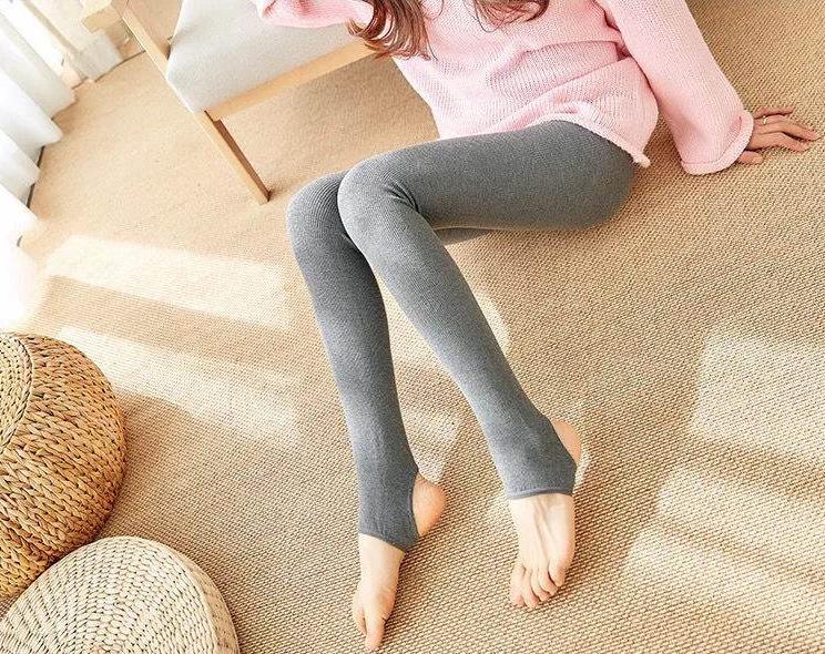 螺纹打底裤女秋冬紧身保暖加绒加厚弹力显瘦修身内穿保暖连裤袜