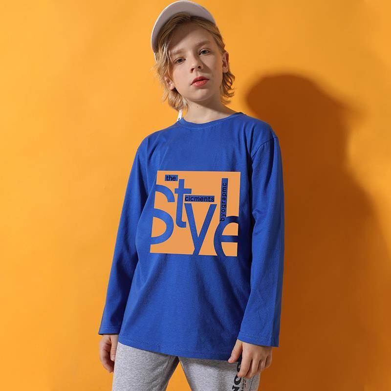 2020新款男童打底衫薄款儿童长袖纯棉t恤中大童秋装洋气上衣童装