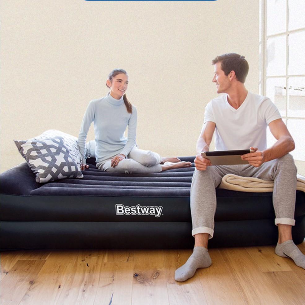 全新升级充气床垫双人家用折叠气垫床单人加大简易便携加厚充气床