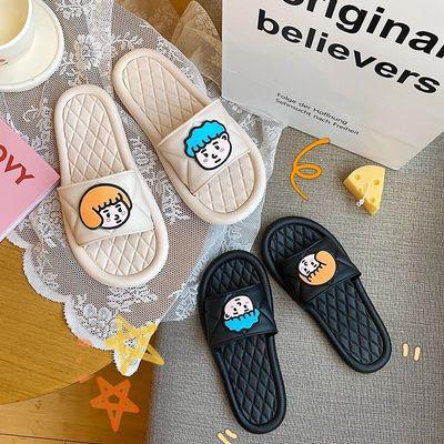 拖鞋ins夏女款家居室内外穿防滑学生韩版浴室情侣软底可爱凉拖鞋