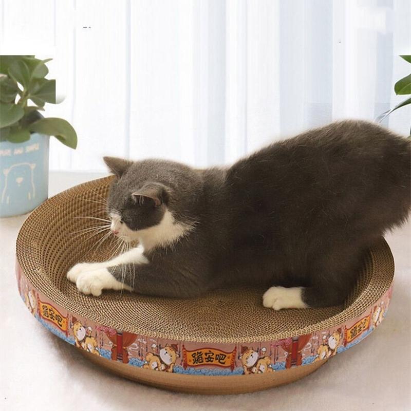 猫抓板磨爪器猫窝猫爪板窝不掉屑瓦楞纸猫抓盆立式猫玩具猫咪用品