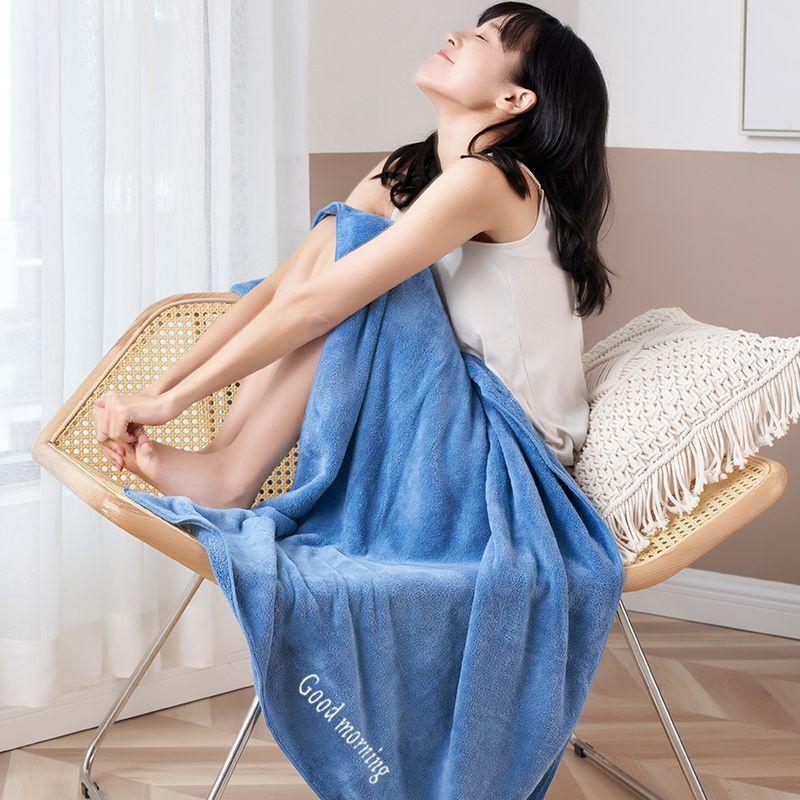 【A类新升级】日系刺绣加厚大浴巾