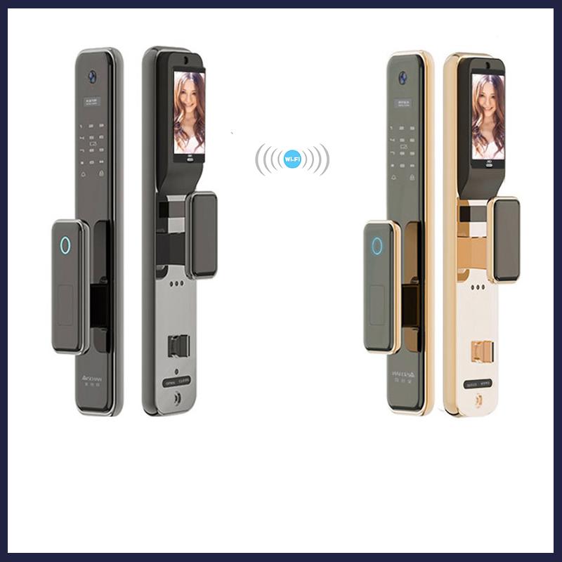 新升级指纹锁家用防盗门智能锁全自动带监控摄像头电子密码锁大门