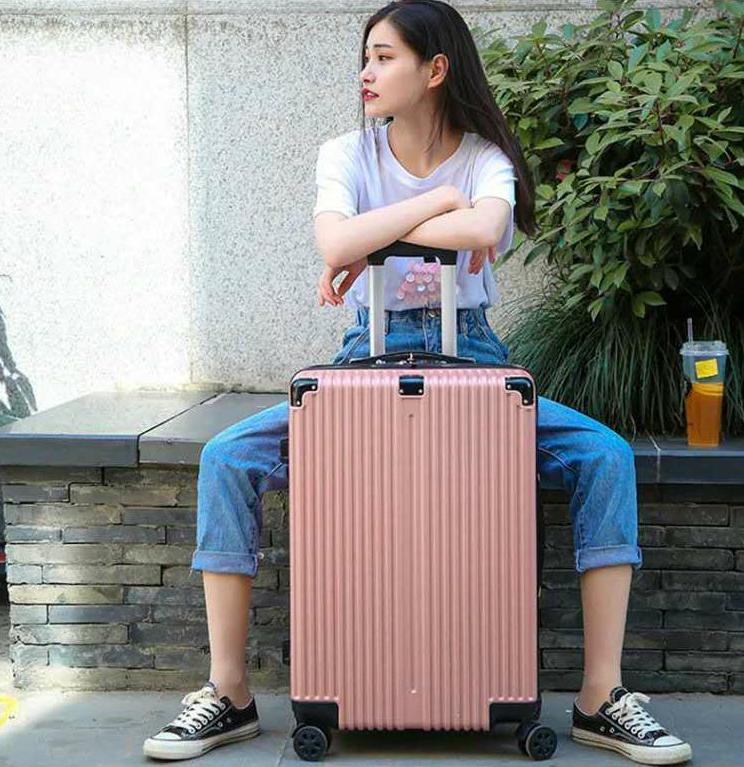 结实耐用行李箱女学生万向轮拉杆密码箱男时尚旅行箱包皮箱登机箱