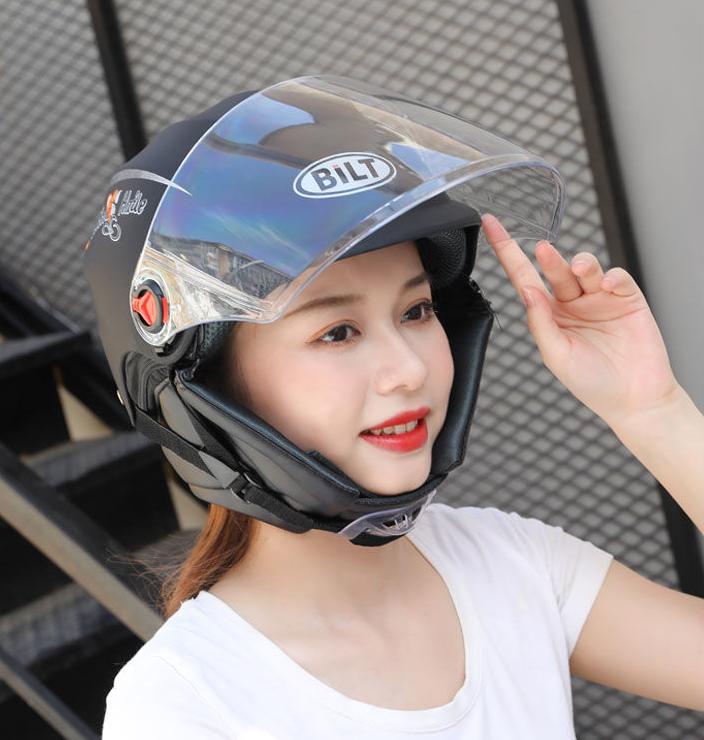 电动车摩托车头盔电瓶车男女士四季通用帽春夏季防晒防紫外线