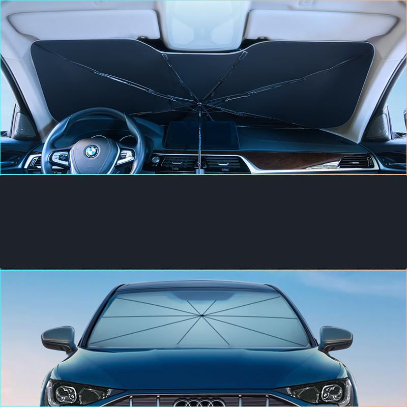 汽车遮阳帘伞式车窗防晒隔热挡板车载前挡停车用车内挡风玻璃神器